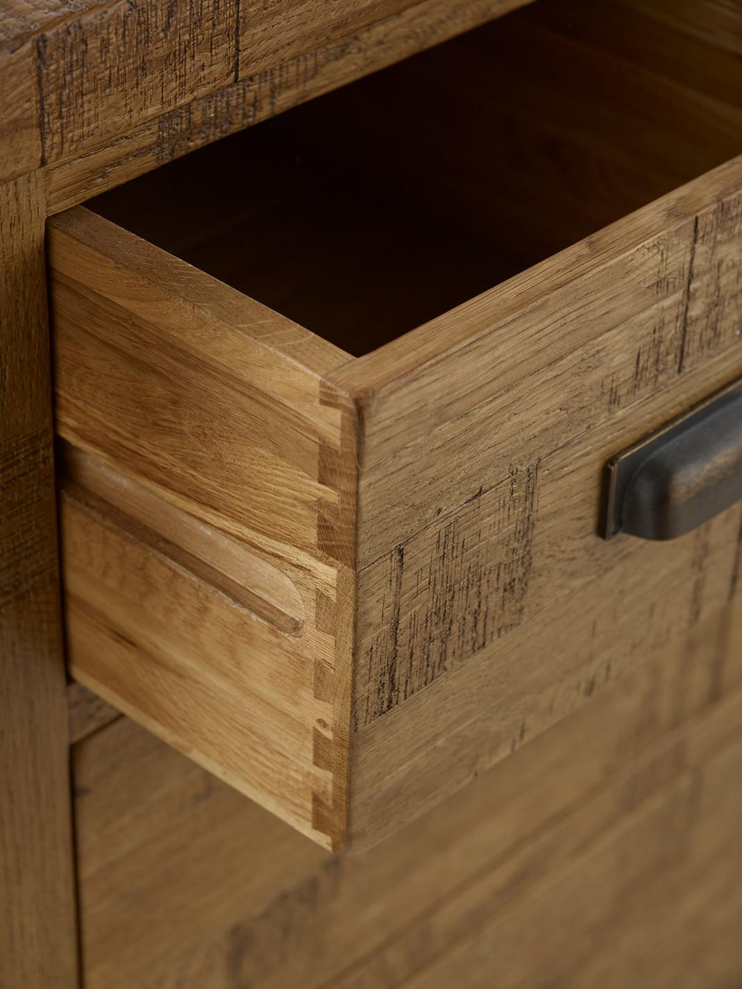 Ripley Rough Sawn Solid Oak Large Sideboard Oak