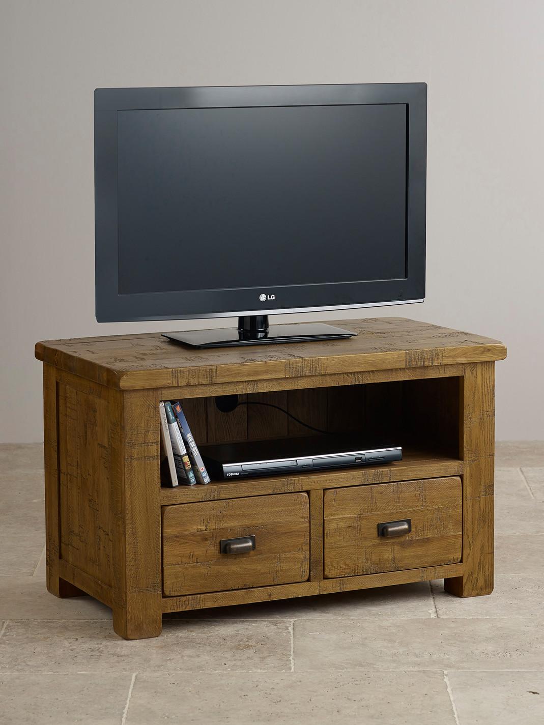 ripley rough sawn solid oak tv cabinet living room furniture. Black Bedroom Furniture Sets. Home Design Ideas