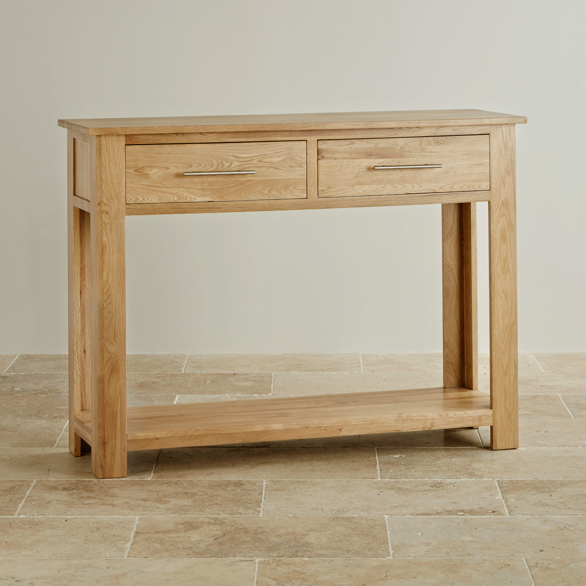 Rivermead Natural Solid Oak Console Hall Table