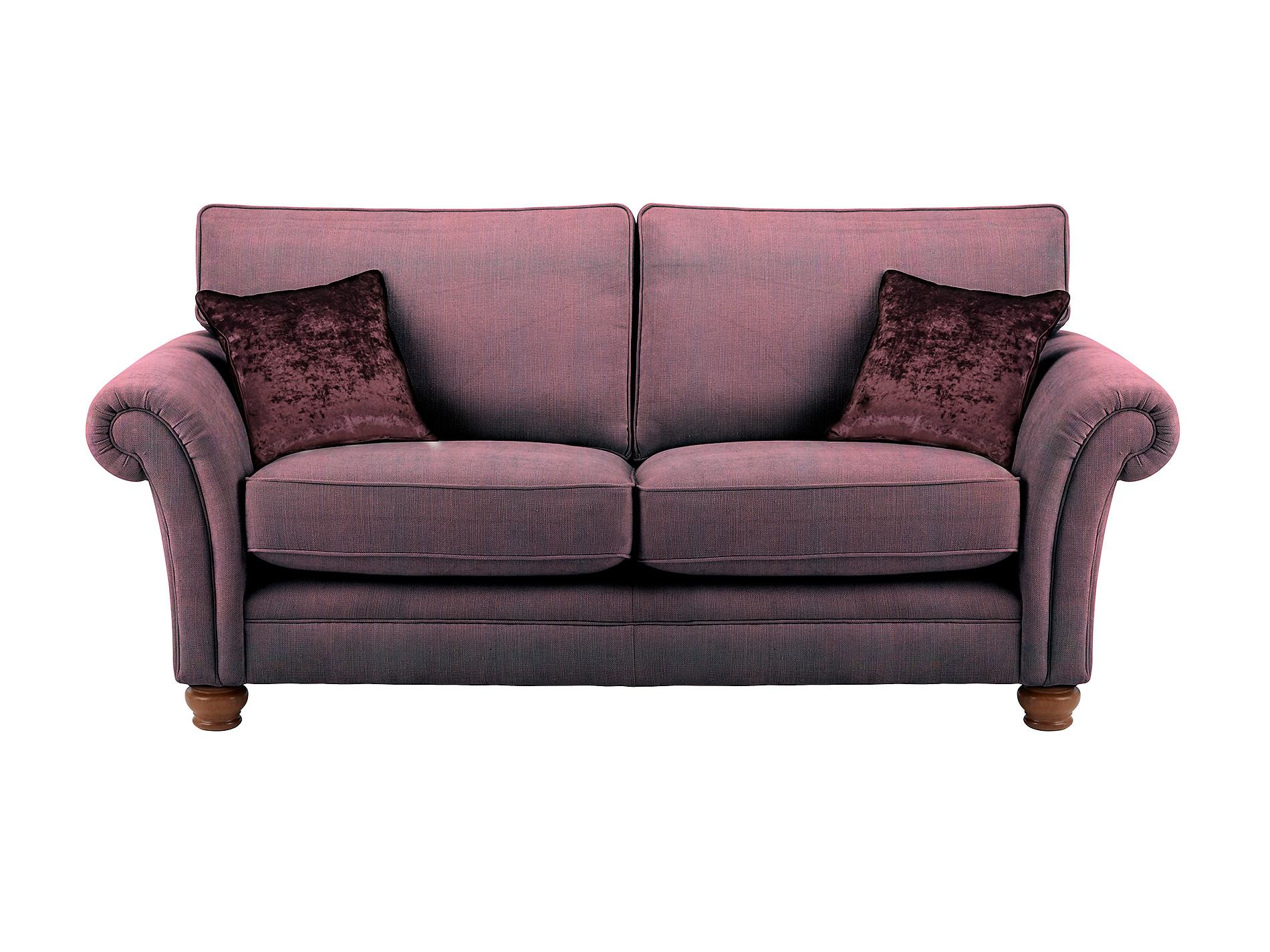 soho large sofa in marinello aubergine with indulgence