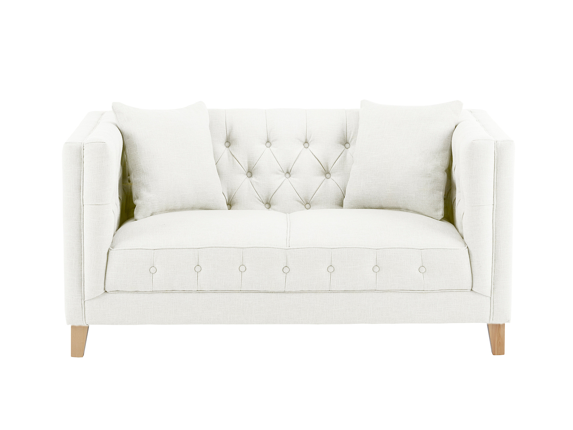 Sterling small sofa in maxwell cream for Small cream sofa