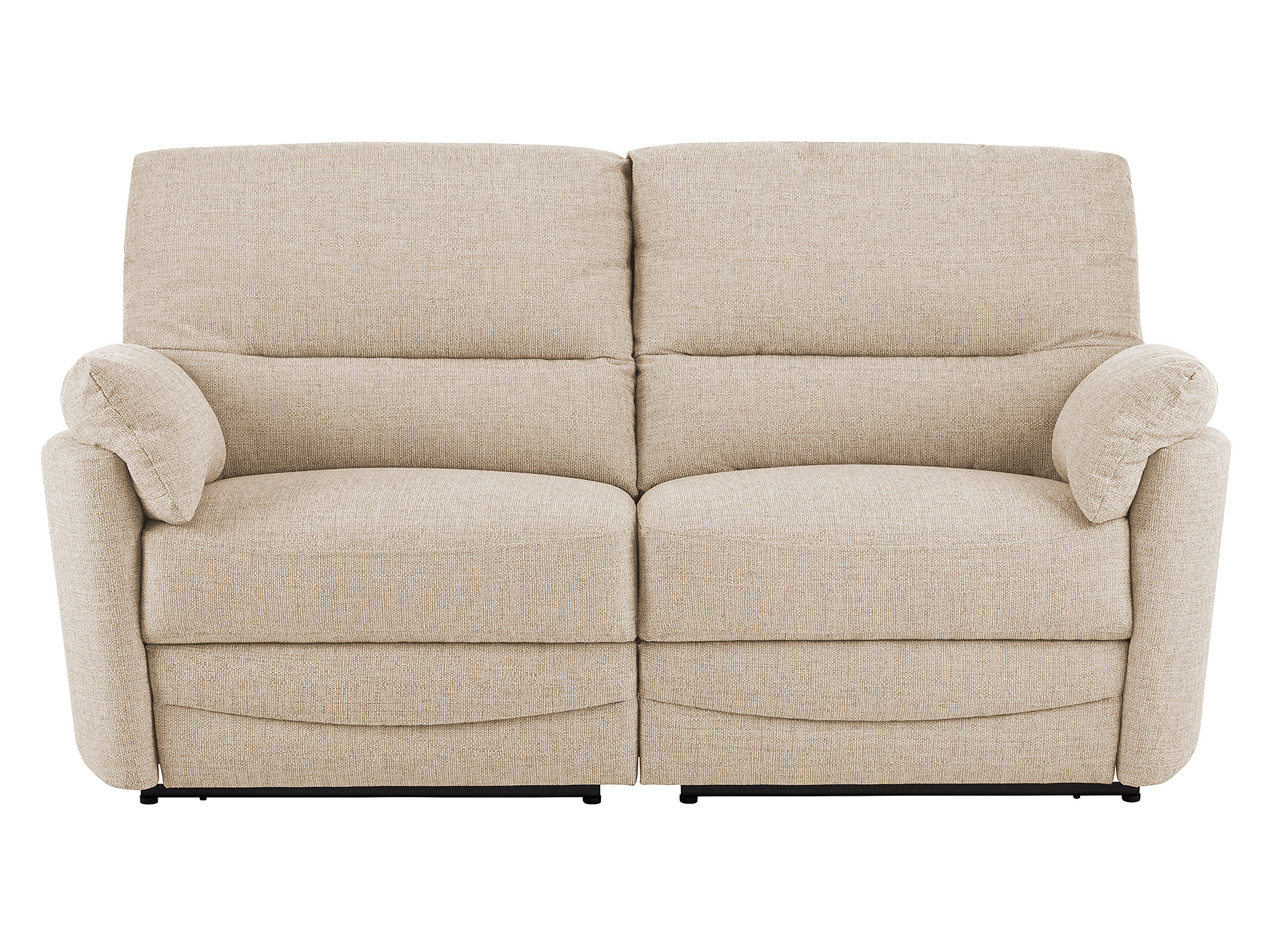 sutton large sofa with manual recliners in barley beige. Black Bedroom Furniture Sets. Home Design Ideas