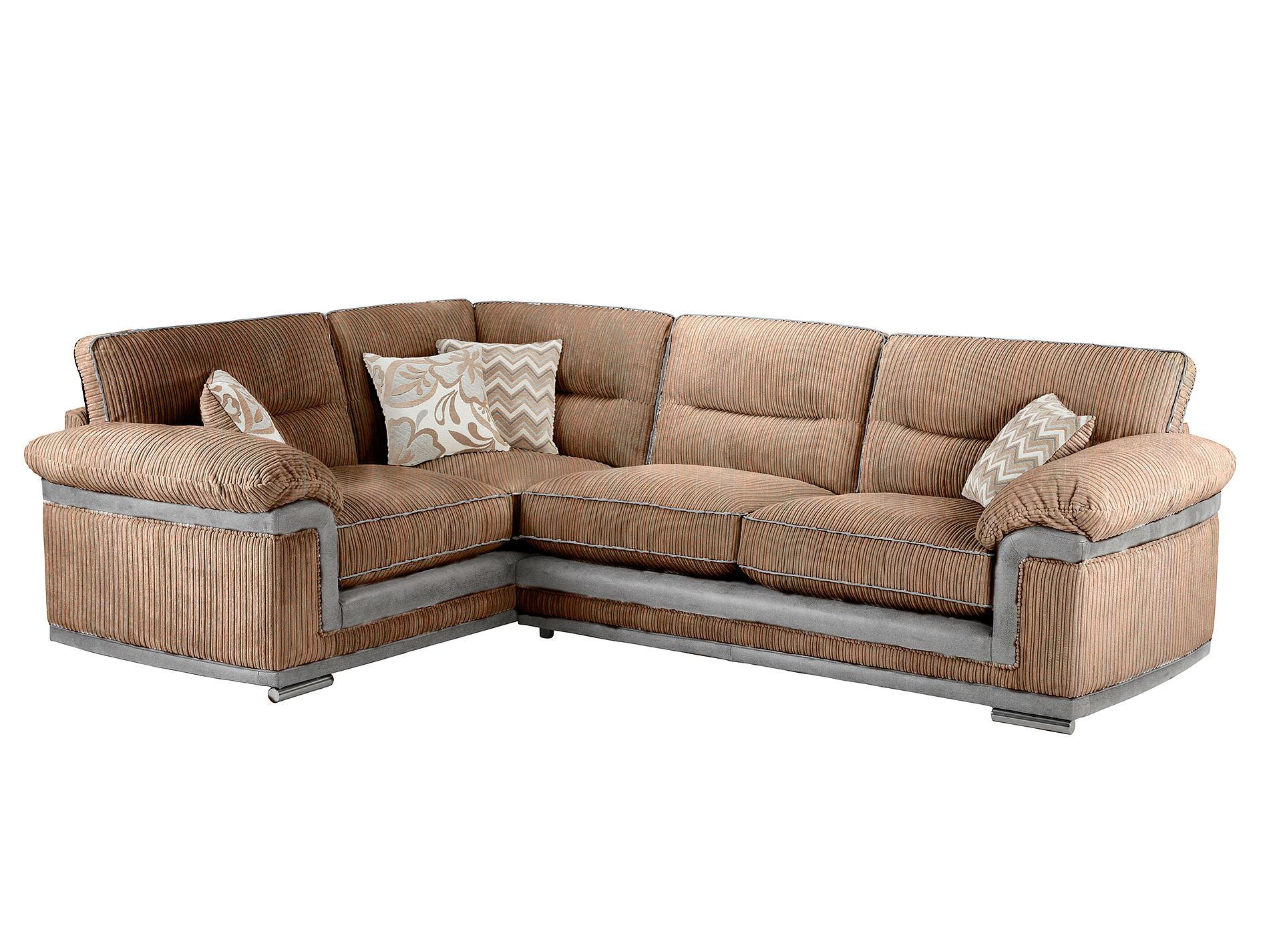 tasmin corner sofa high back left facing in jeremy coffee