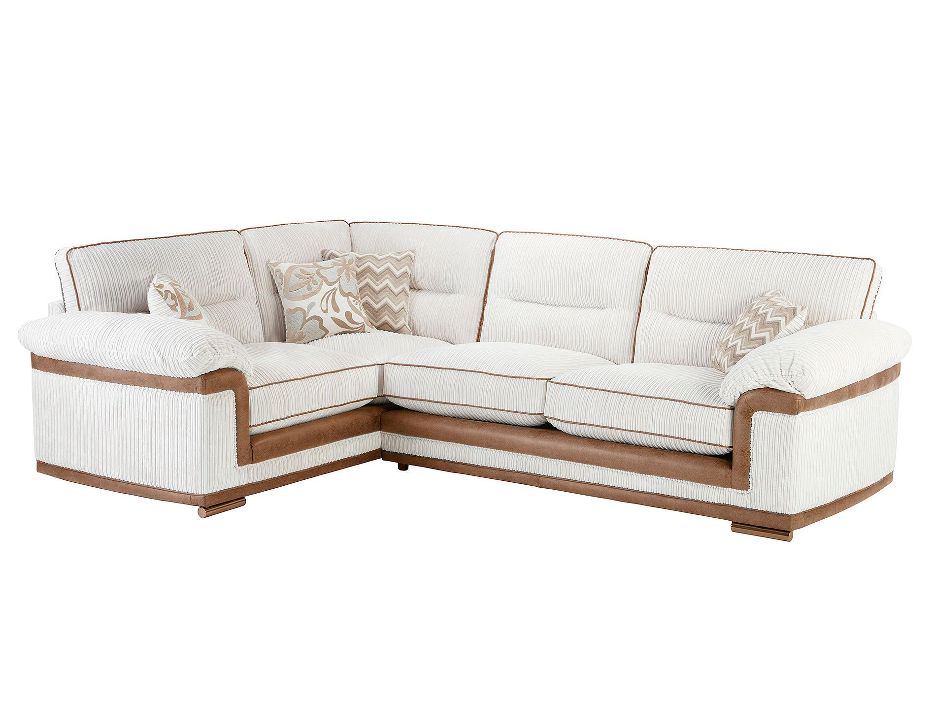 tasmin corner sofa high back left facing in jeremy ivory