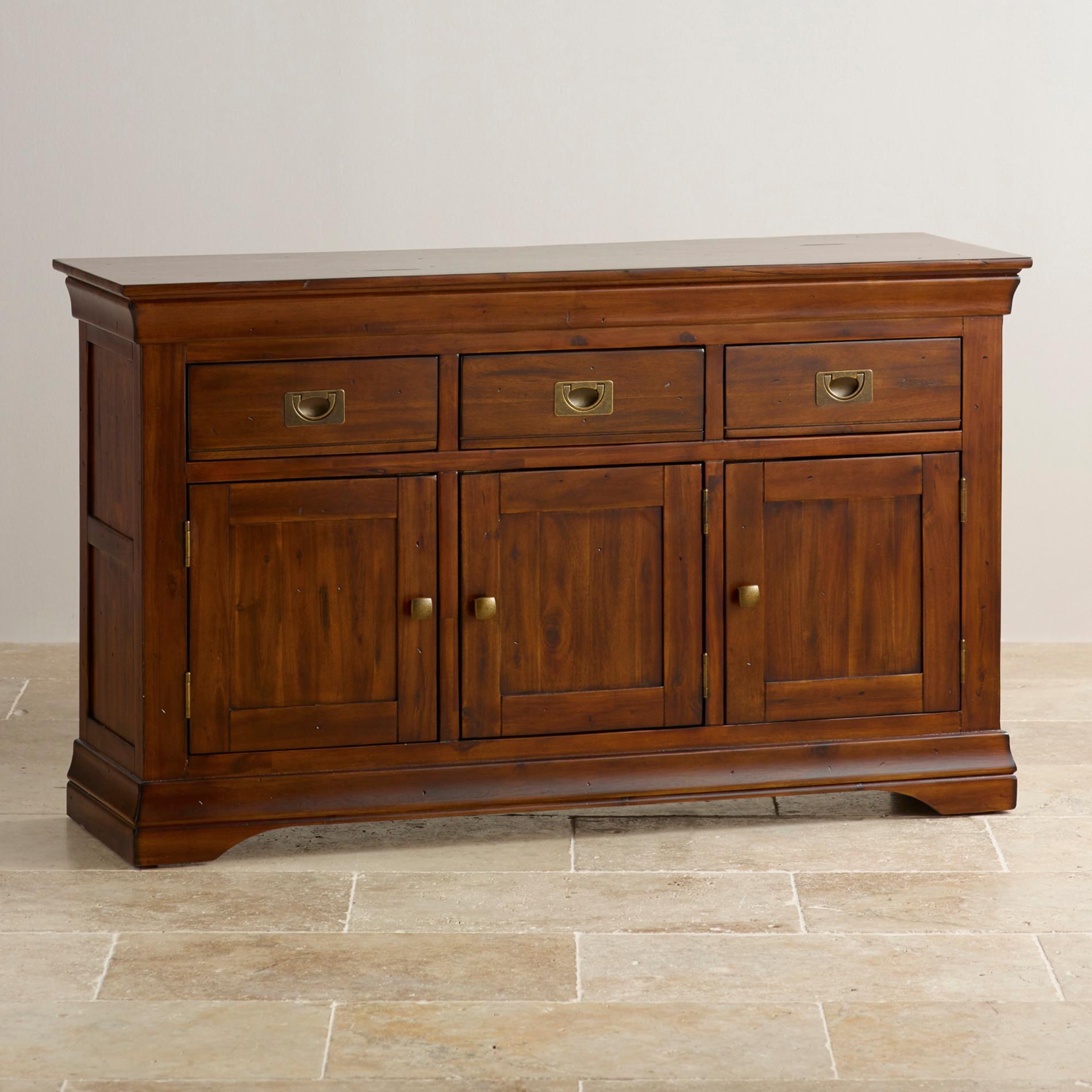 Large Colonial Style Sideboard 100 Acacia Hardwood