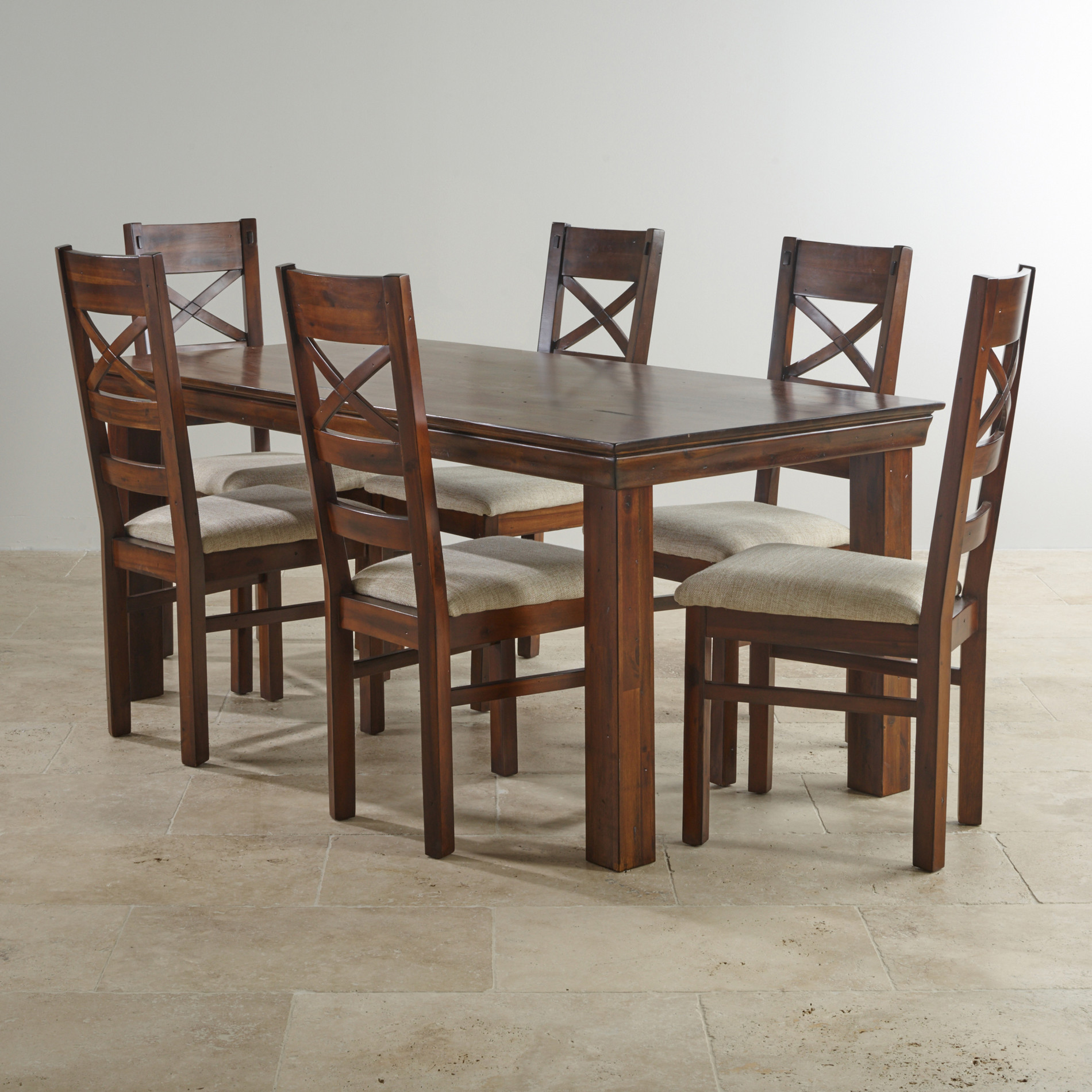 Victoria solid hardwood dining set ft table with