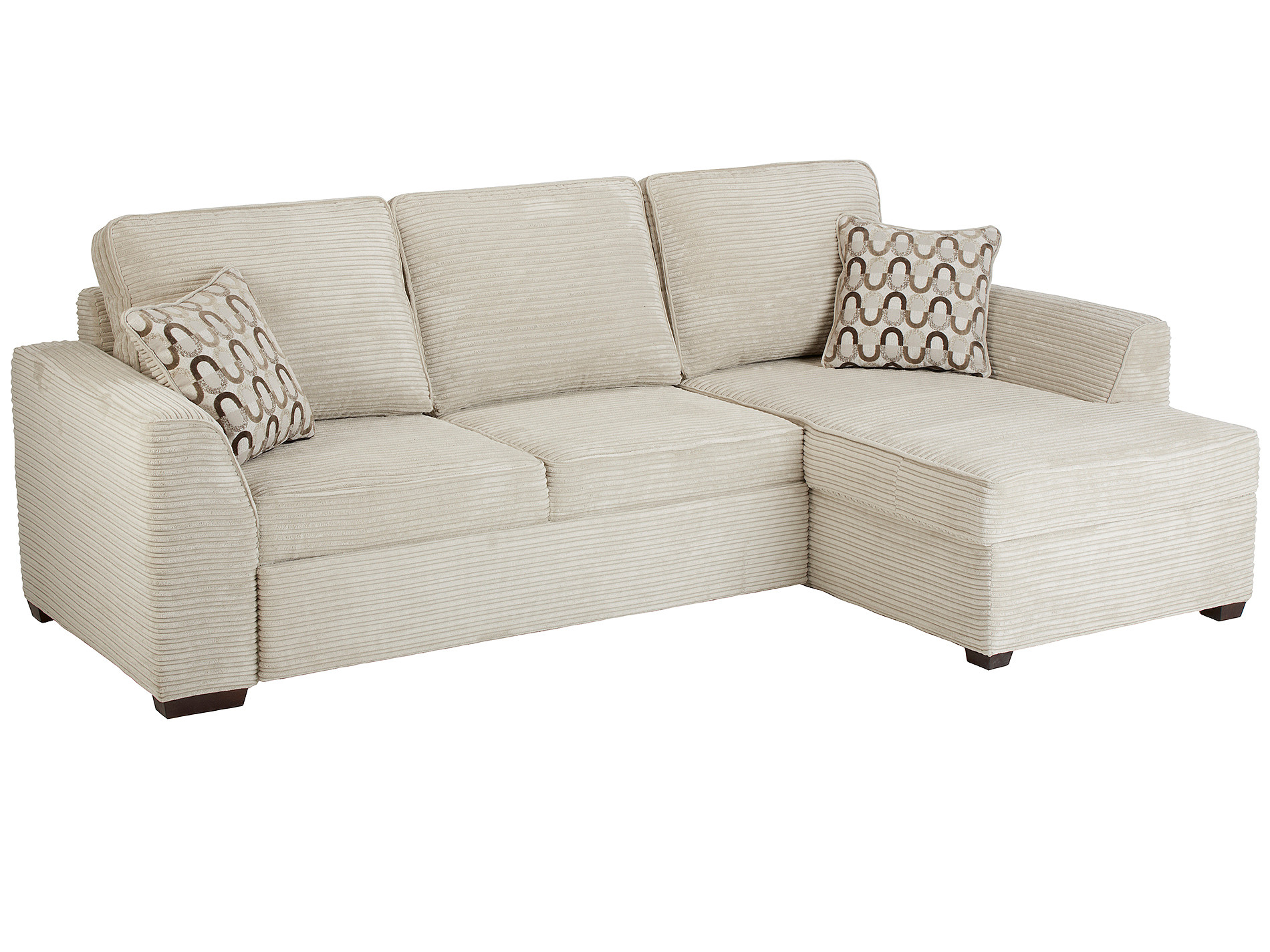 whitney corner sofa right facing in cord fawn. Black Bedroom Furniture Sets. Home Design Ideas