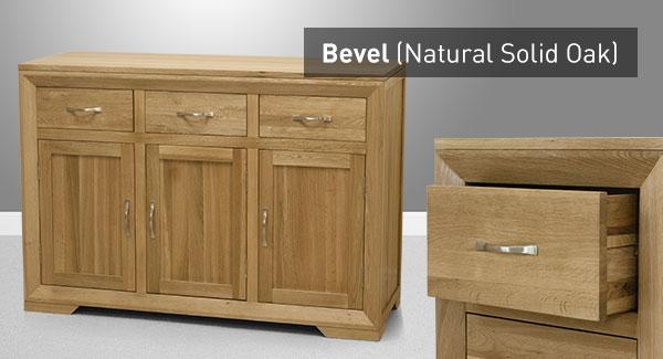 The Bevel Range Of Natural Solid Oak Furniture Oak