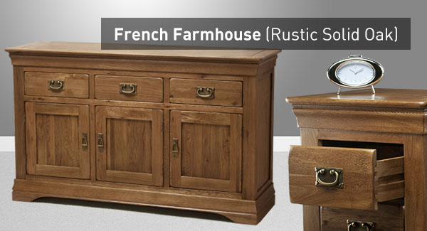 French Farmhouse Range Solid Oak Oak Furniture Land