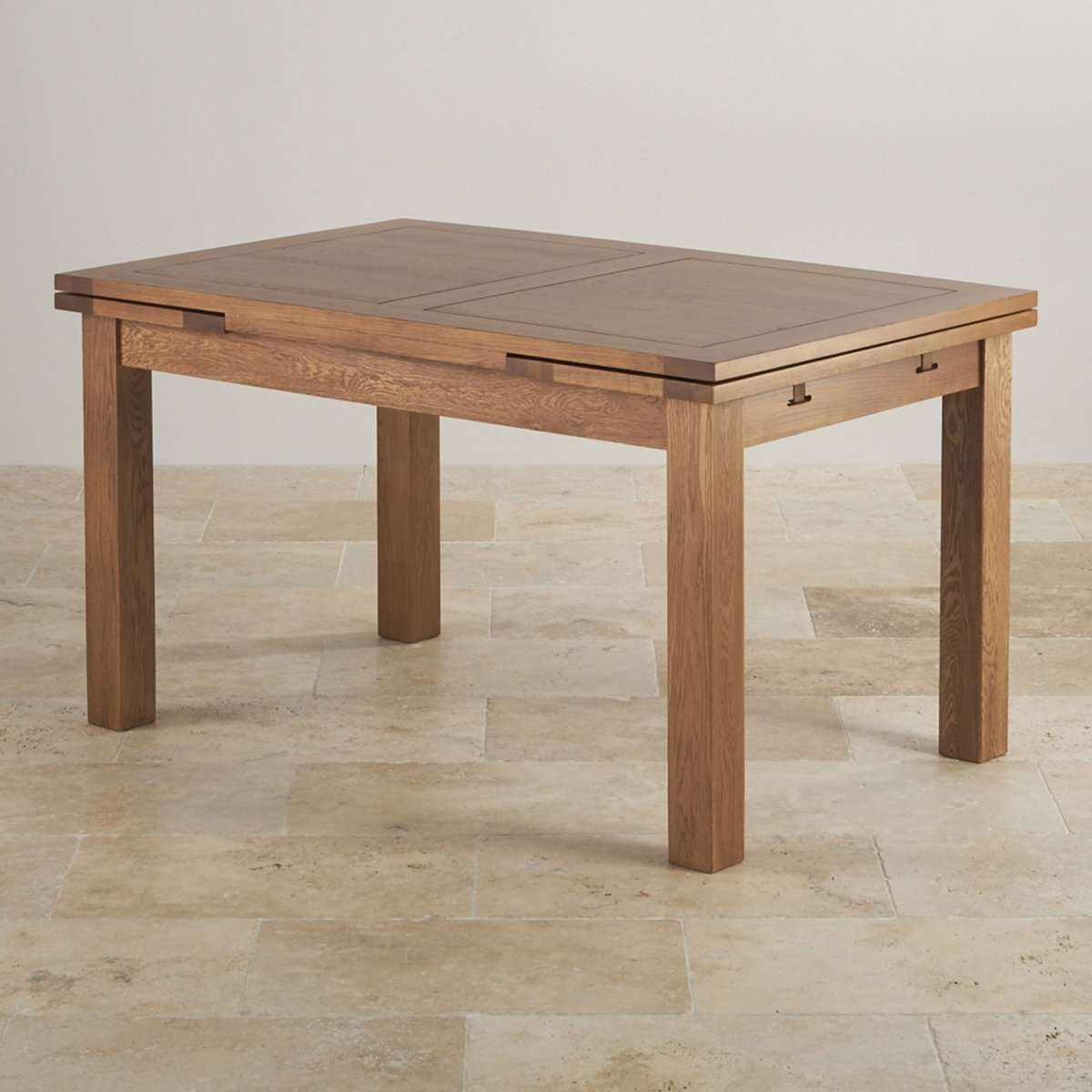 Rustic Extending Dining Table in Real Oak | Oak Furniture Land