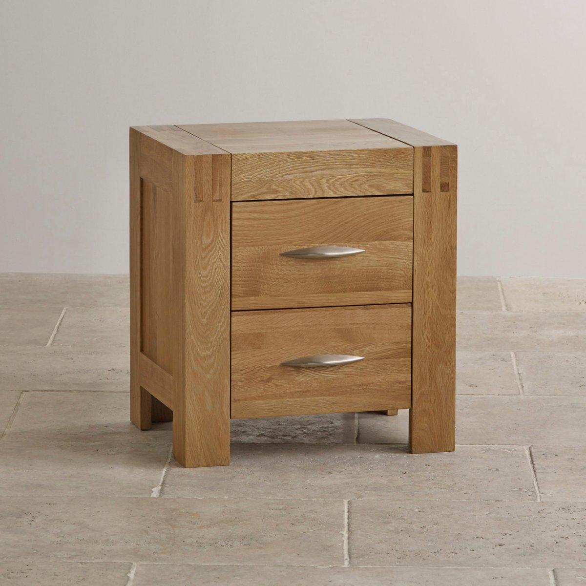 Alto Natural Solid Oak Bedside Table Bedroom Furniture