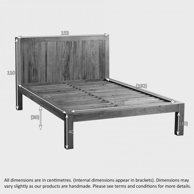 "Alto Natural Solid Oak 4ft 6"" Double Bed"