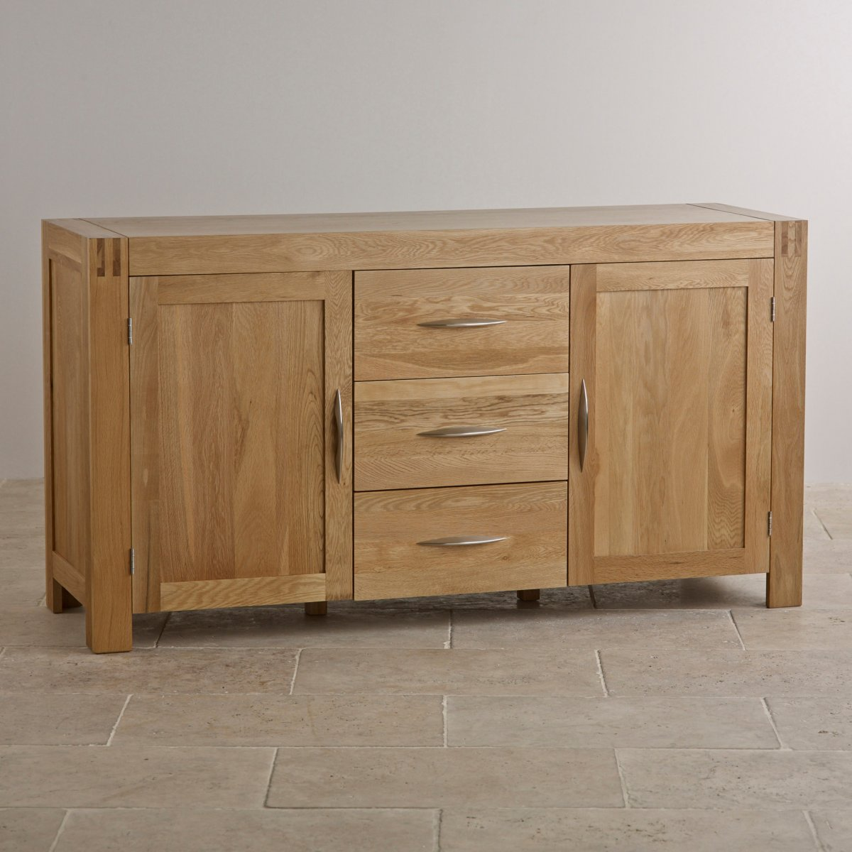 Alto natural solid oak large sideboard oak furniture land for Solid oak furniture