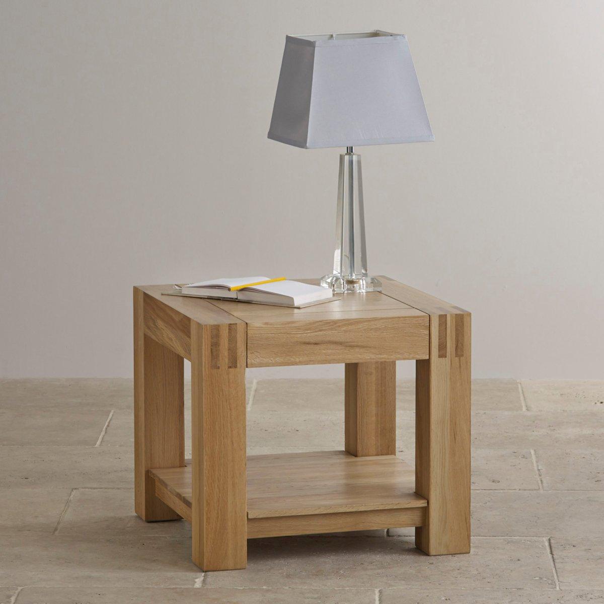 Alto Side Table in Natural Solid Oak Oak Furniture Land