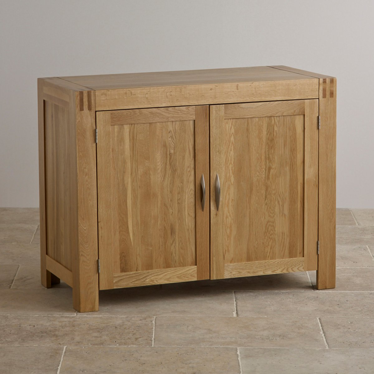 Alto natural solid oak small sideboard oak furniture land for Solid oak furniture