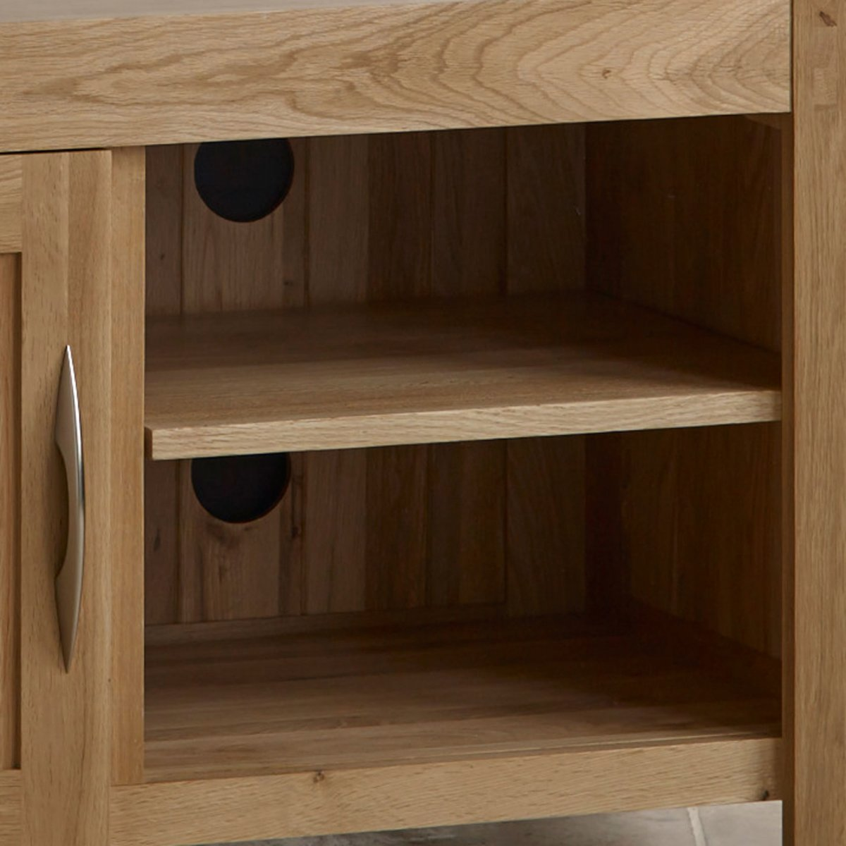 Alton oak corner cabinet oak furniture solutions - Alto Natural Solid Oak Small Tv Cabinet Sorry Your Browser Does Not Support This Video