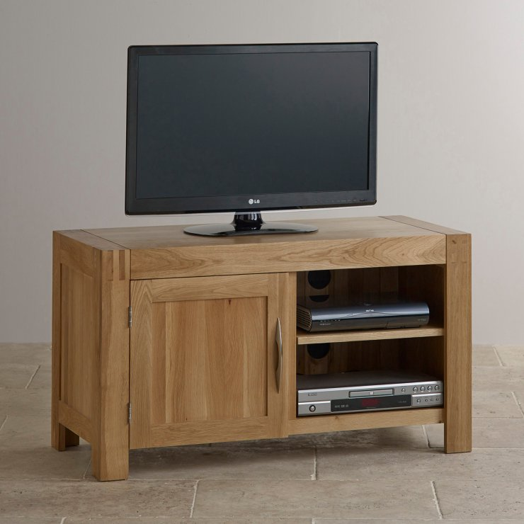 Alto Natural Solid Oak Small TV Cabinet