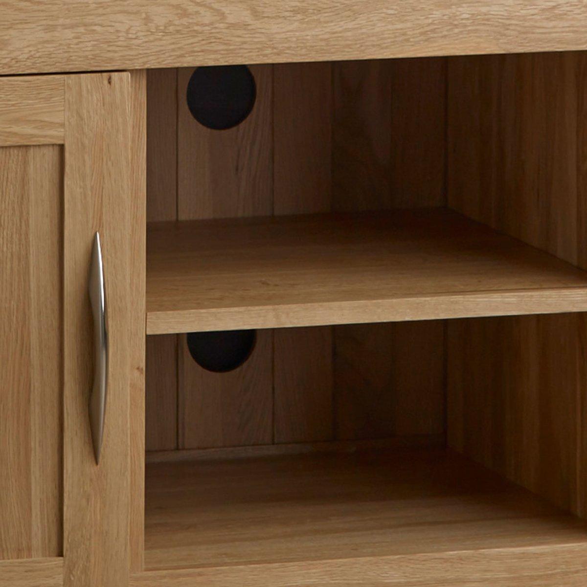 Large Tv Cabinets Alto Tv Cabinet In Solid Oak Oak Furniture Land