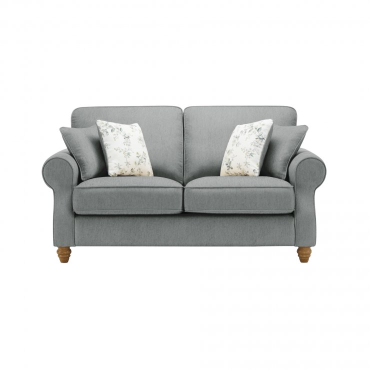 Amelia 2 Seater Sofa in Polla Grey with Rippon Natural Scatters