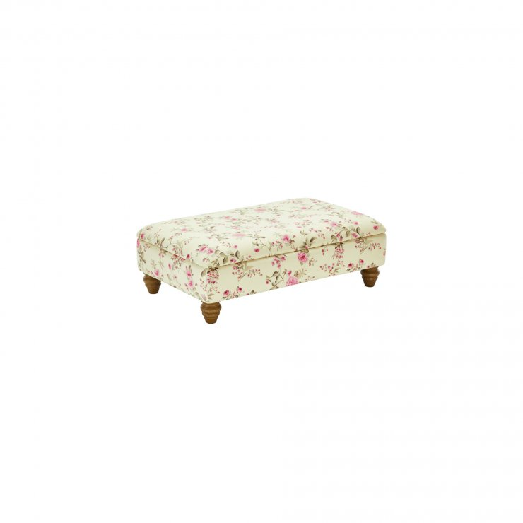 Amelia Storage Footstool in Rippon Plum