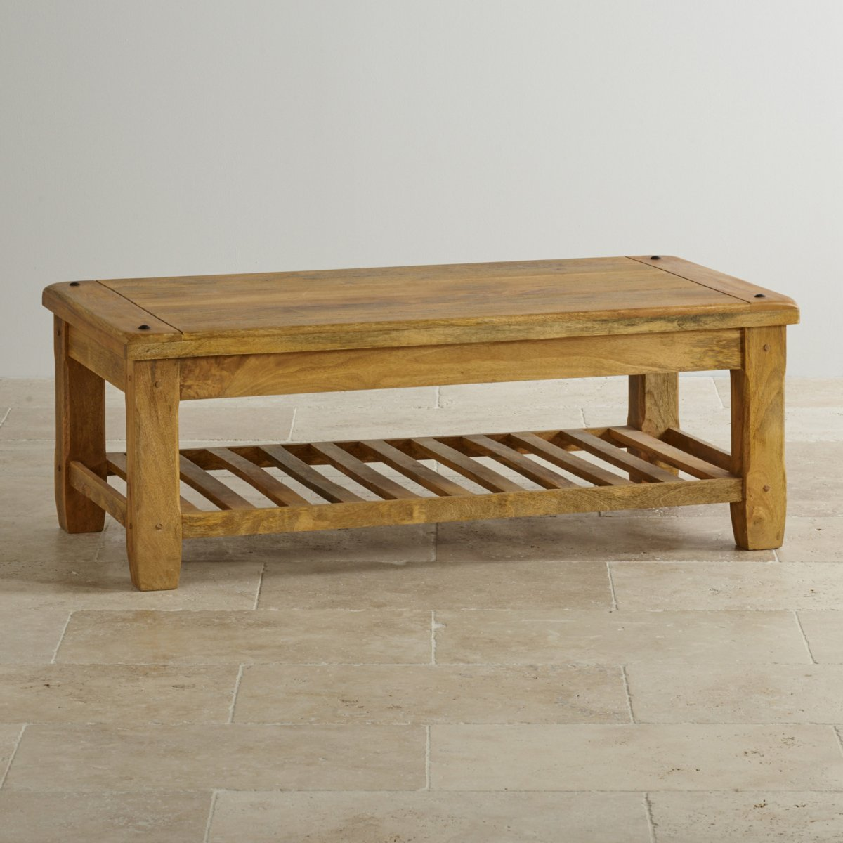 Coffee Table Baku Light Natural Solid Mango Coffee Table By Oak Furniture Land