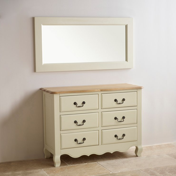 Bella Brushed Oak and Painted 1200mm x 600mm Wall Mirror