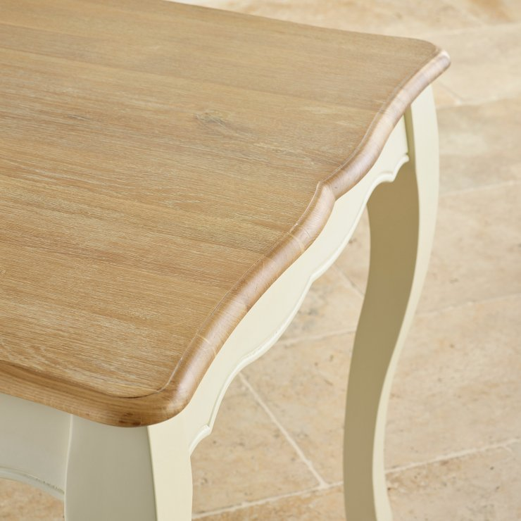"Bella Brushed Oak and Painted 4ft 7"" Extending Dining Table"