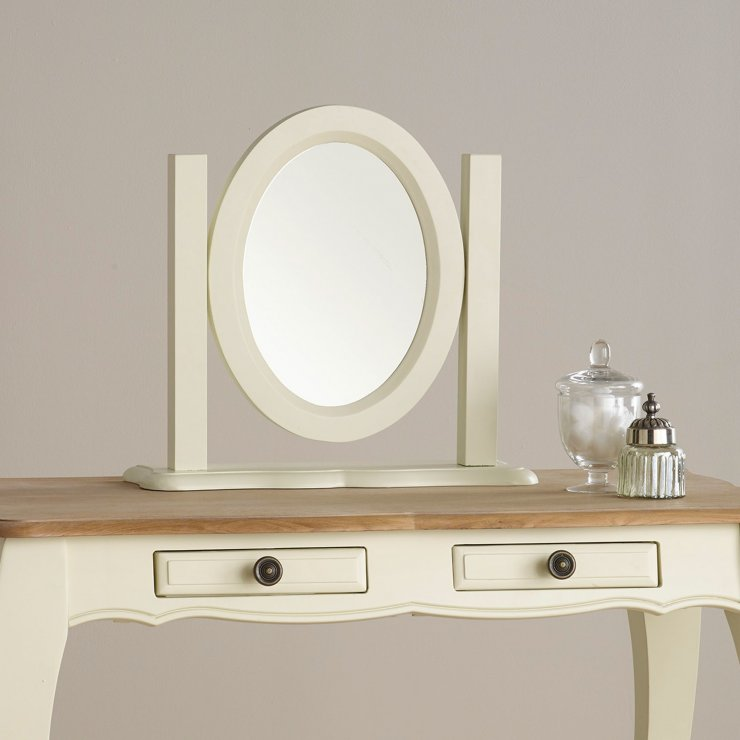 Bella Brushed Oak and Painted Dressing Table Mirror