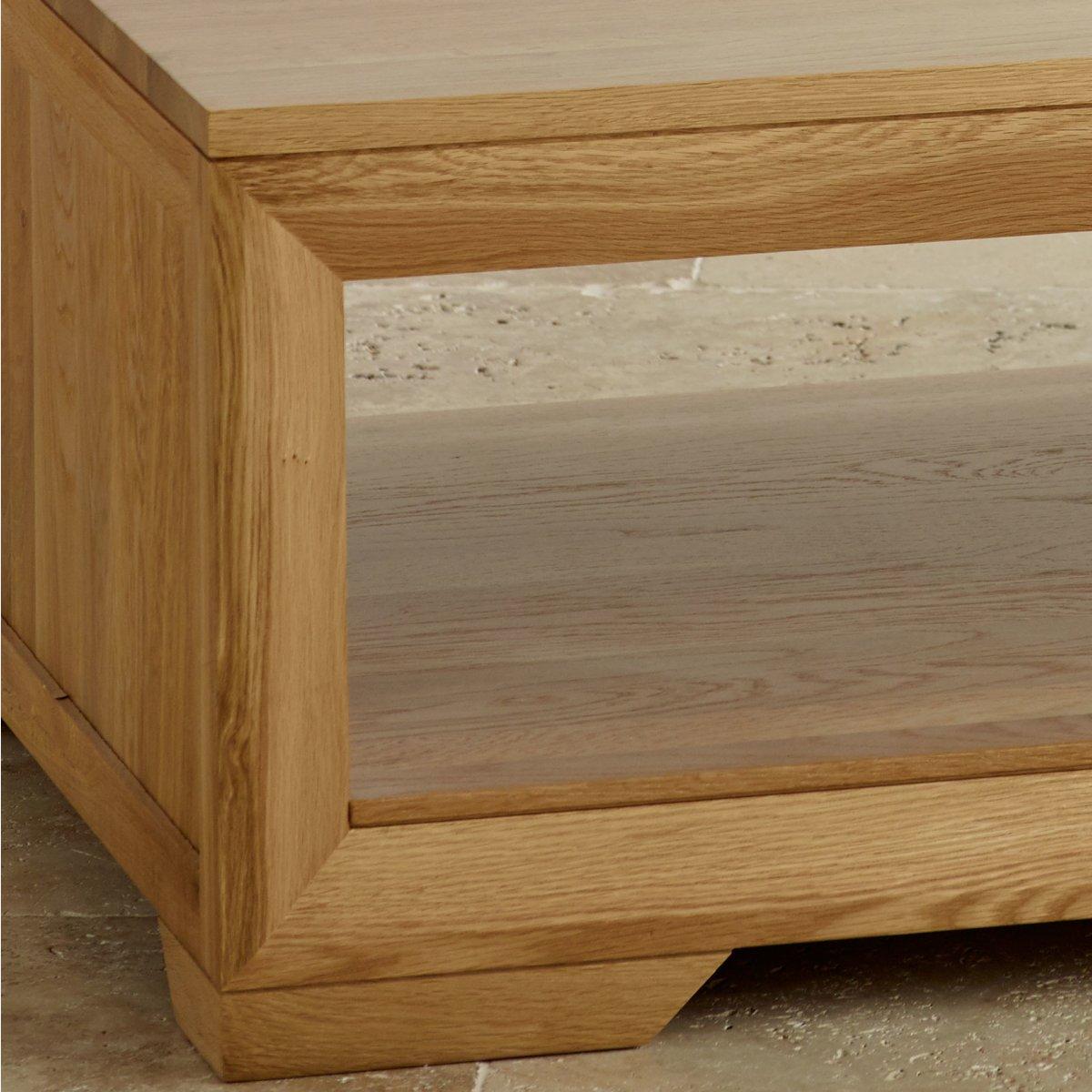 Bevel Coffee Table In Solid Oak Oak Furniture Land