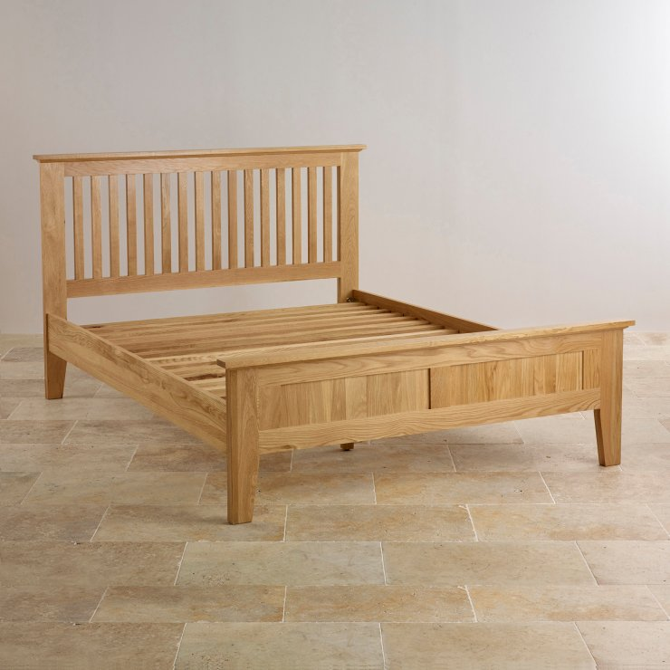 "Bevel Solid Oak 4ft 6"" Double Bed"