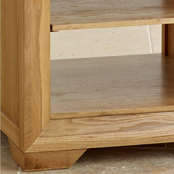 Pemberton Solid Chunky Oak Living Room Furniture Lamp Sofa: Bevel Natural Solid Oak Lamp Table