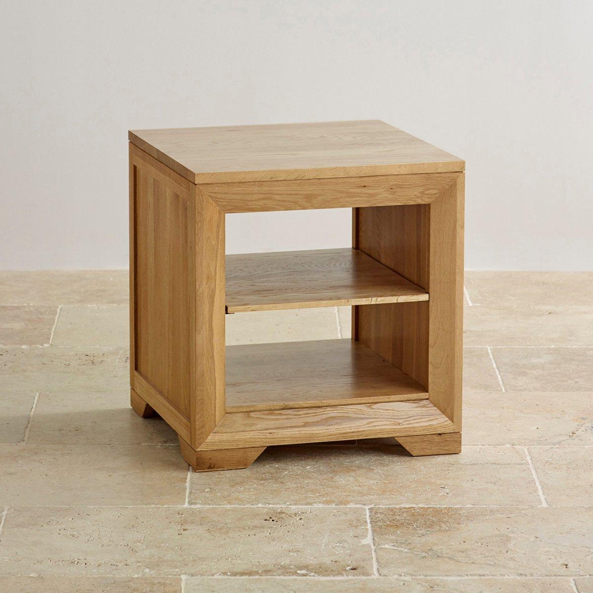 Bevel Natural Solid Oak Lamp Table Oak Living Room Furniture