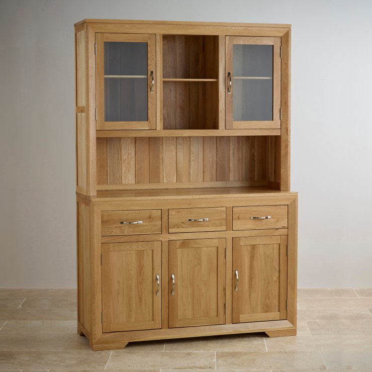 Bevel Large Welsh Dresser In Solid Oak Oak Furniture Land