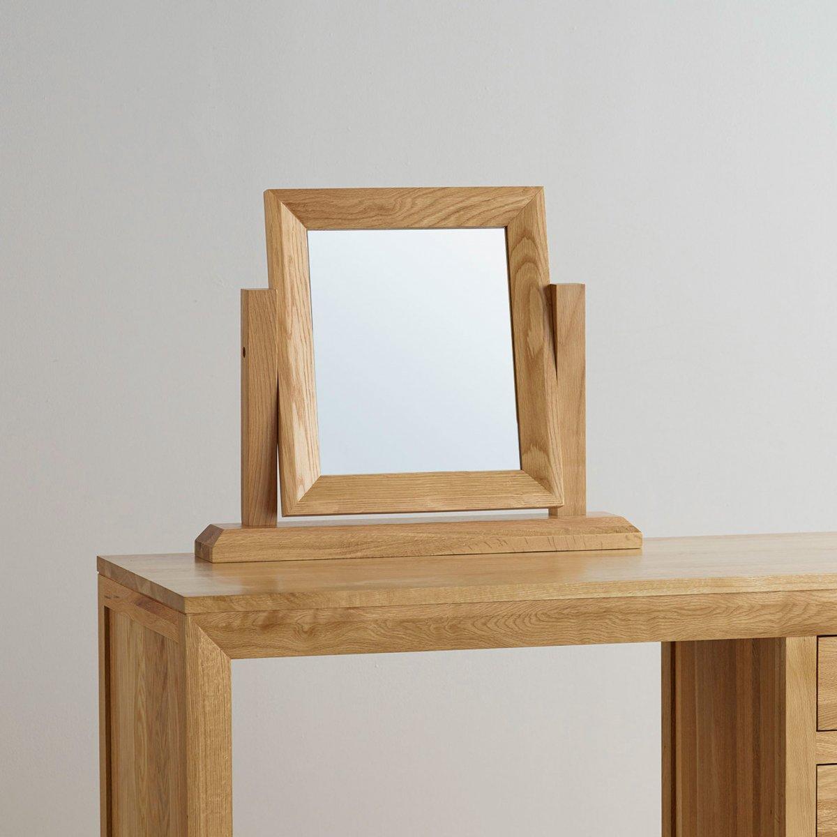 Bevel dressing table mirror in solid oak furniture land