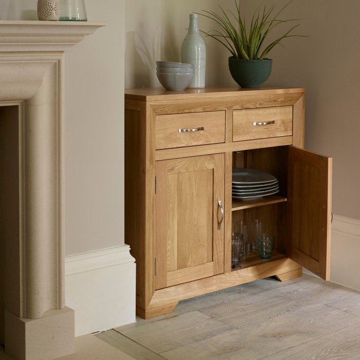 Bevel Natural Solid Oak Small Sideboard