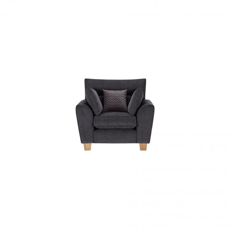 Brooke Armchair in Charcoal with Grey Scatters