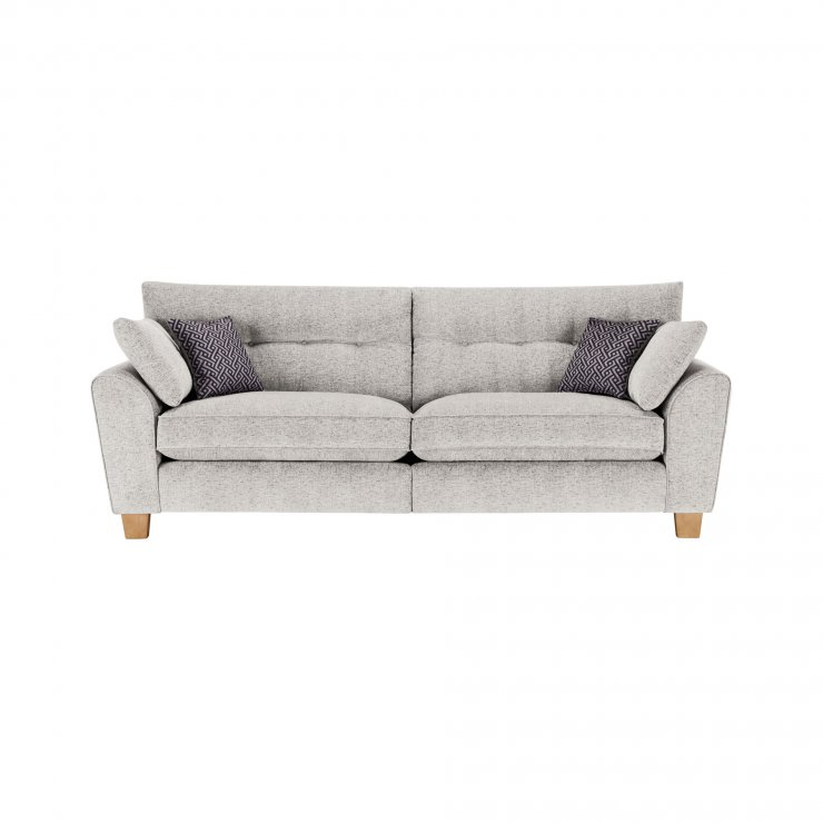 Brooke 4 Seater Sofa in Cream with Grey Scatters