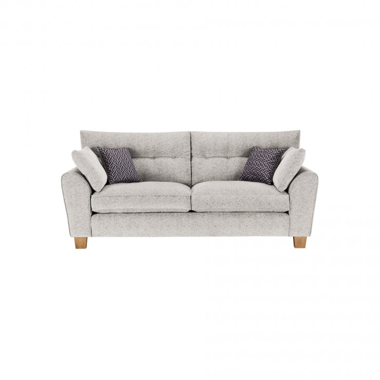Brooke 3 Seater Sofa in Cream with Grey Scatters