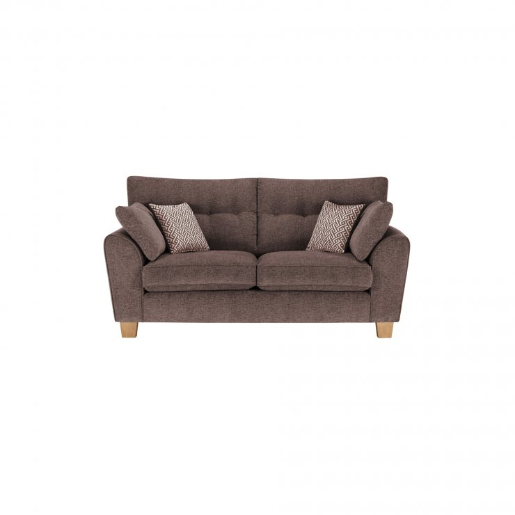 Brooke 2 Seater Sofa in Brown with Brown Scatters