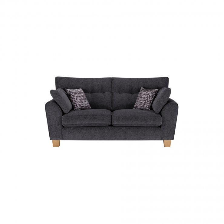 Brooke 2 Seater Sofa in Charcoal with Grey Scatters