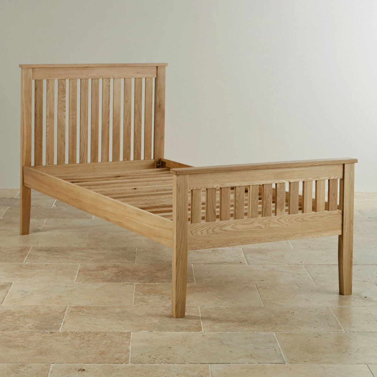 Single Bedroom Furniture Cairo Natural Solid Oak Single Bed Bedroom Furniture