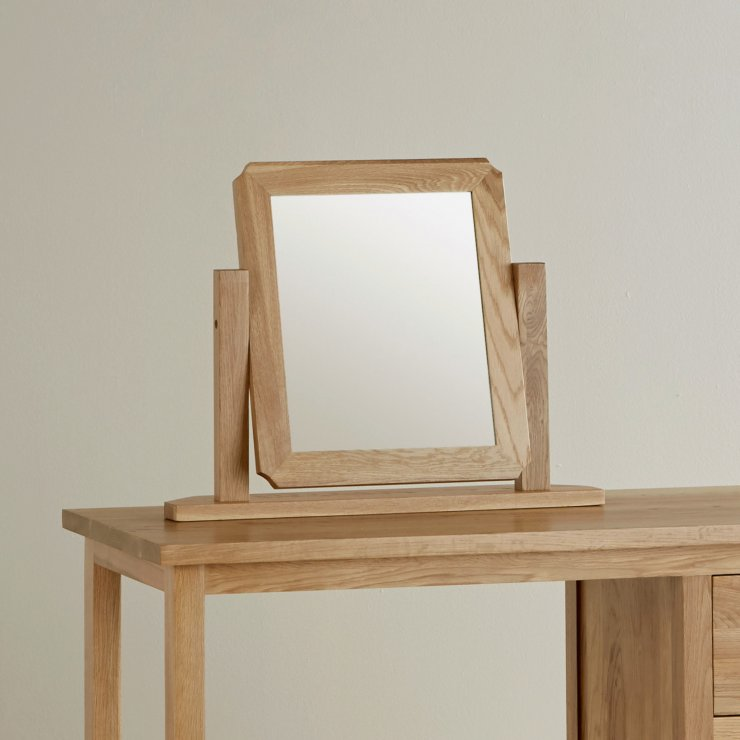 Cairo Natural Solid Oak Dressing Table Mirror