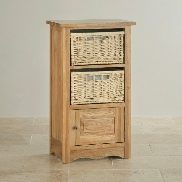 Cairo Natural Solid Oak Storage Unit Oak Furniture Land