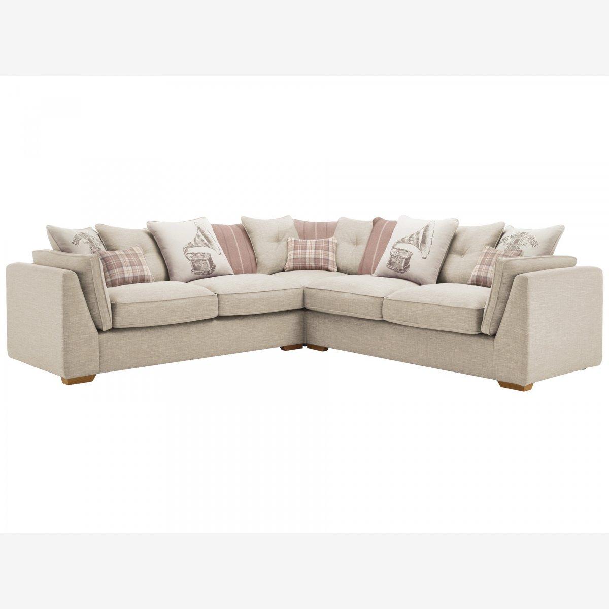 california 4 seater pillow back corner sofa civic stone