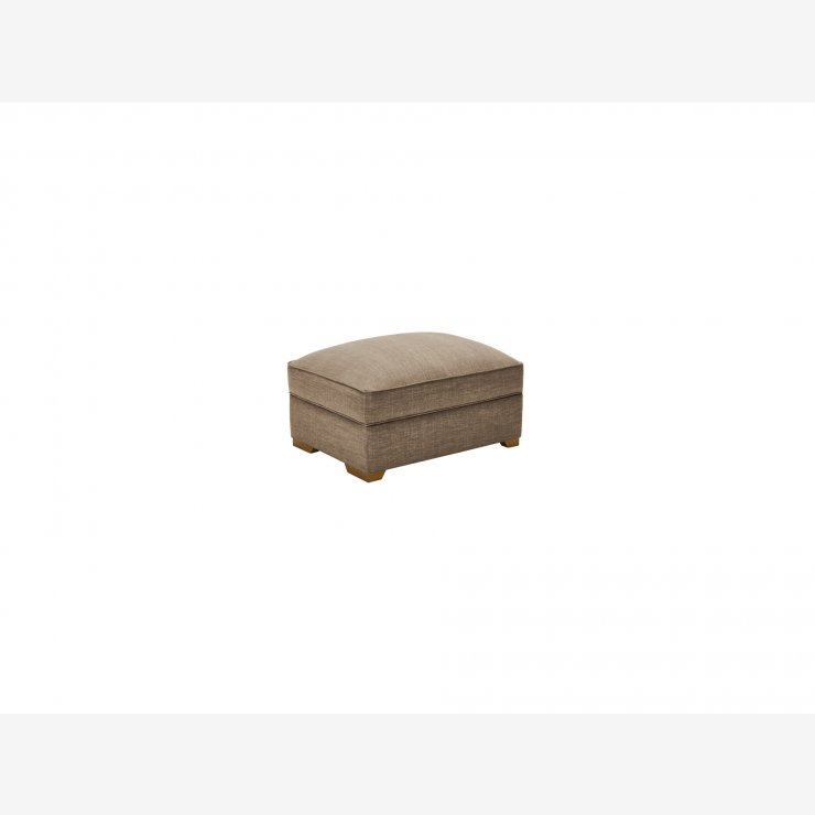 California Large Storage Footstool in Civic Pebble