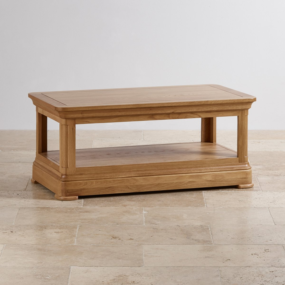 Alton oak corner cabinet oak furniture solutions - Custom Delivery Canterbury Natural Solid Oak Coffee Table