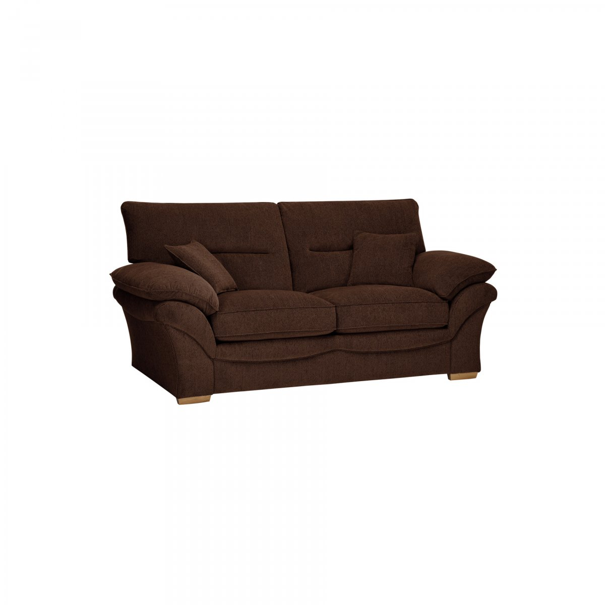 Chloe 2 seater standard sofa bed in brown fabric for Sofa bed 2 seater