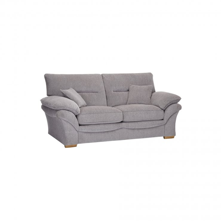 Chloe 2 Seater Standard Sofa Bed in Logan Fabric - Silver