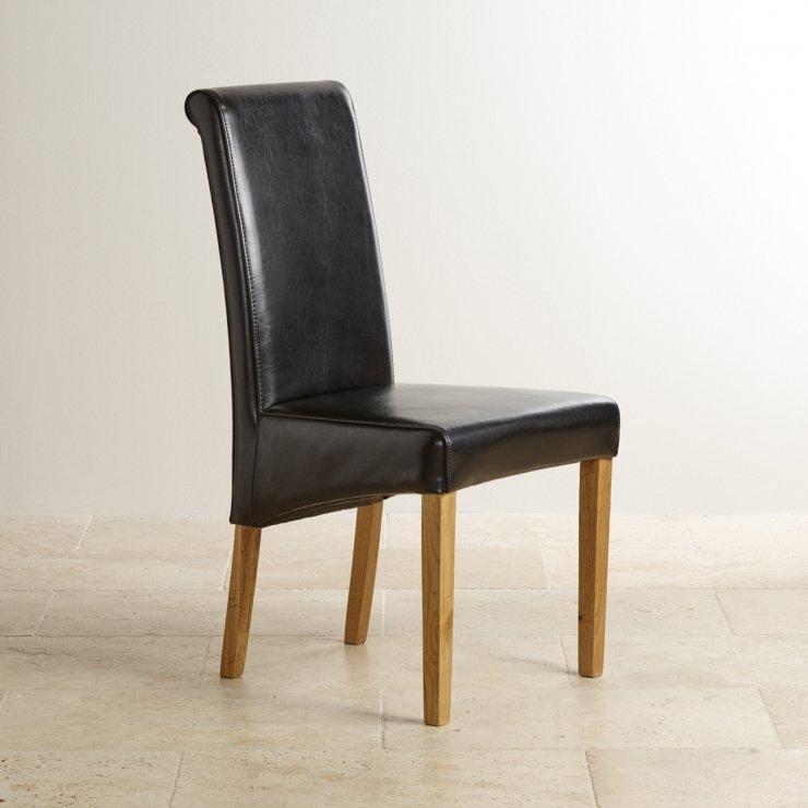 Chunky 4ft Solid Oak Dining Table 4 Black Leather Scroll  : chunky 4ft x 2ft 6 solid oak dining table 4 black leather scroll back chairs 57334bde32ac8130a8234f39c350f4435e9fc2c74ac48 from www.oakfurnitureland.co.uk size 740 x 740 jpeg 47kB