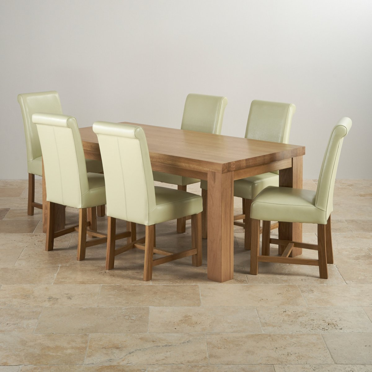 Oak dining tables contemporary chunky ft solid